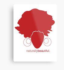 Red Naturally Beautiful Metal Print