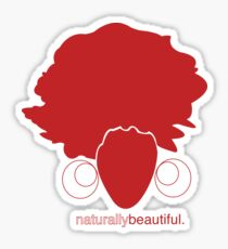 Red Naturally Beautiful Sticker