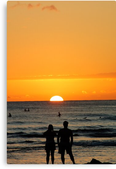 Sunset worship by Ernie Lopez