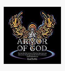 Armor of God will protect you from evil Photographic Print