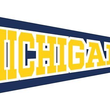 Michigan Triangle Flag by Chocodole
