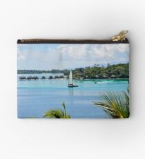 Tropical vacation destination, Bora Bora Studio Pouch
