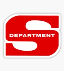 Department S (small solid) Sticker