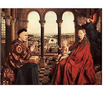 Madonna of Chancellor Rolin Jan van Eyck by buythebook86