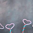 heart balloons card for valentine's day and love by spetenfia