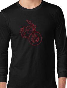 Red Glowing Cruiser Long Sleeve T-Shirt