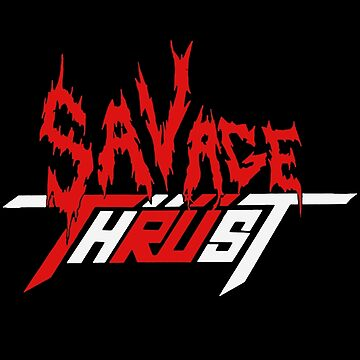 Savage Thrust - 80s Metal Logo by tomastich85