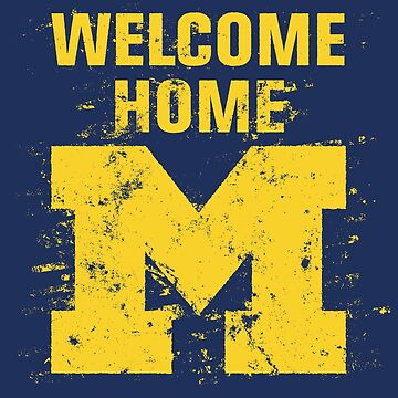 Vintage Michigan Welcome Home by Chocodole