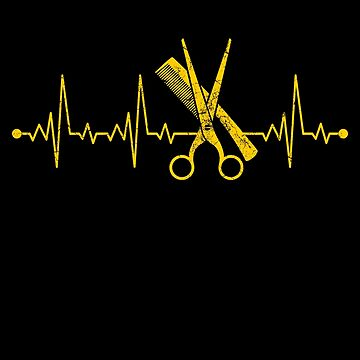 Barber arms scissors and comb by IchliebeT-Shirt