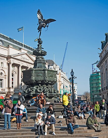 The Statue of Eros: Piccadily Circus, London, UK. by DonDavisUK