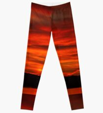 Dusk Burning Sunrise Leggings