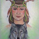 Wolf Gardian by Leanne Inwood
