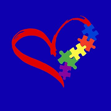 Autism Awareness Puzzle Valentines Gift for Him/ Her T-Shirt  by KhushbooLohia
