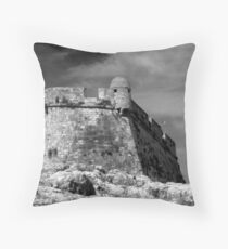 Venetian Fort, Rethymnon Crete Throw Pillow