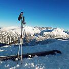 Ski on peak by psychoshadow