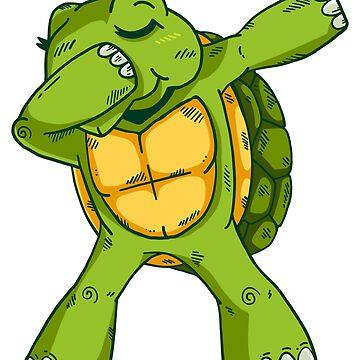 Dabbing Turtle by soondoock