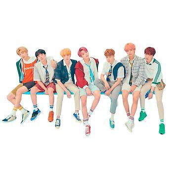 Etiqueta engomada linda de BTS OT7 - ámese de KpopTokens