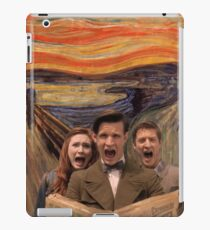 the doctor, amy and rory scream iPad Case/Skin