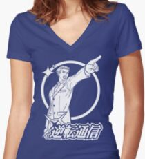 Ace Attorney Women's Fitted V-Neck T-Shirt