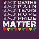 Schwarze Stolz-Angelegenheit Schwarze Leben-Angelegenheit Afroamerikaner-T-Shirt Afro-Protest von Meditart Geld