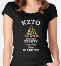 Keto Diet Humor Women's Fitted Scoop T-Shirt