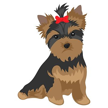 Favorite Dog - Yorkshire Terrier red bow knot - Gift Idea by vicoli-shirts