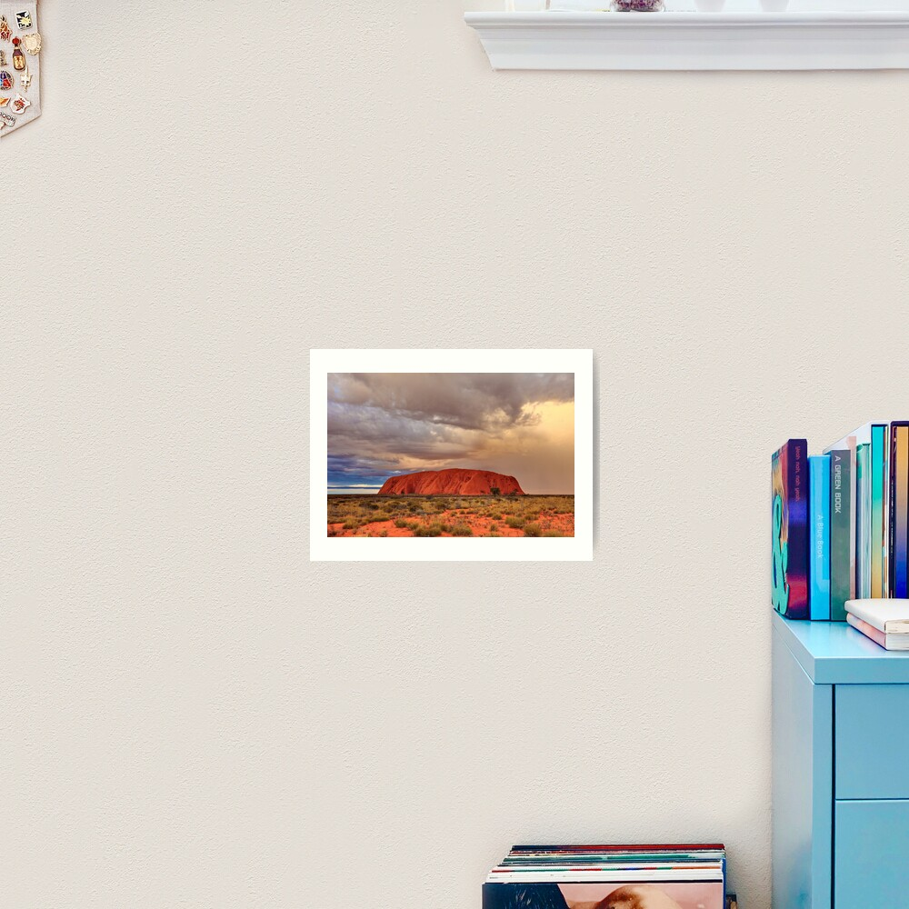 Ayers Rock (Uluru) Sunset, Australia Art Print