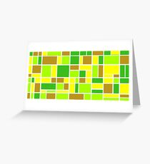 Retro Blocks in Lime Greeting Card