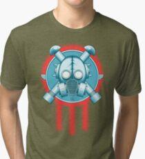 Art Deco Gasmask Trinity Tri-blend T-Shirt
