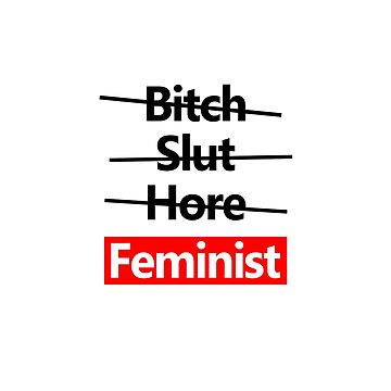 Crossed Out feminist feminist text design by GetItGiftIt