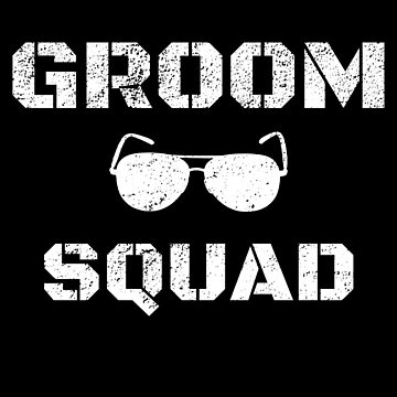 Funny Bachelor Party Groom Squad Sunglass Design by micha75muc