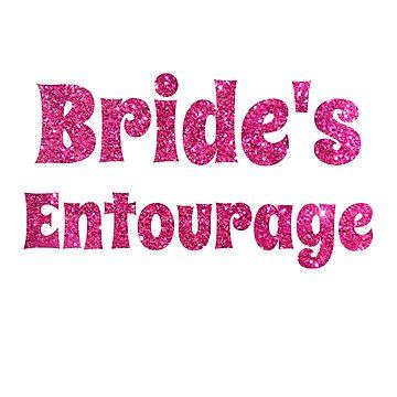 Pink Bride's Entourage Bachelorette Party Women's Design by micha75muc
