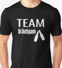 9ec3407c Polterabend JGA Design für das Team Crew Bräutigam Slim Fit T-Shirt