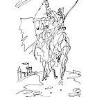 Medieval Rider by BlackLineWhite