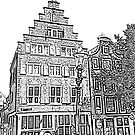 Amsterdam Sketch by OntheroadImage