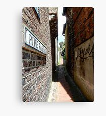 Looking Through Pipe Passage Canvas Print