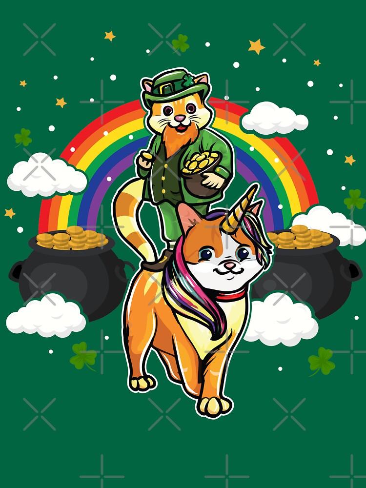 Cat Leprechaun Caticorn St. Patricks's by frittata