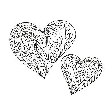 Zentangle mandala heart by alijun