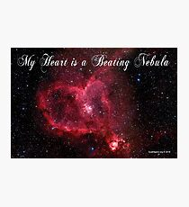 My Heart is a Beating Nebula Photographic Print