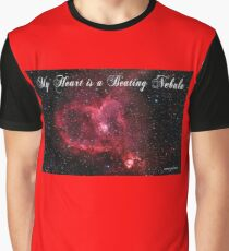 My Heart is a Beating Nebula Graphic T-Shirt