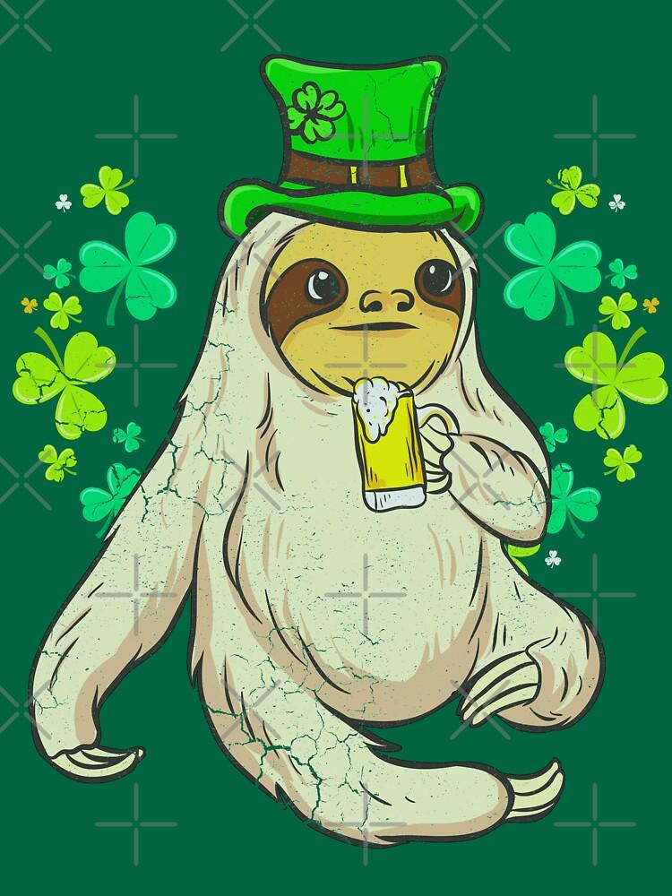 Sloth Leprechaun Irish Beer St. Patrick's by frittata