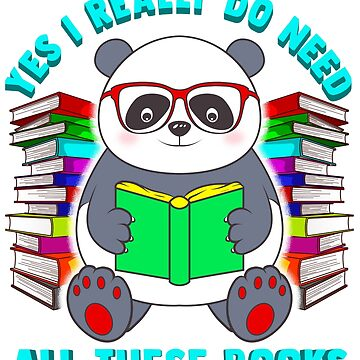 Panda Reading Books Literacy by frittata