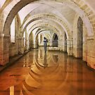 Crypt, Winchester Cathedral by Ludwig Wagner