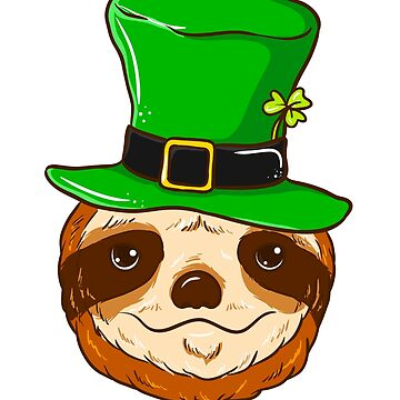 St Patricks Day T-Shirt Sloth Funny Gift Sloth Lover by BlueBerry-Pengu