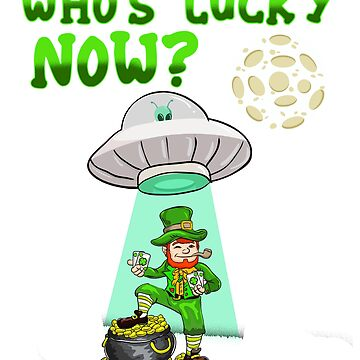 St Patricks Day T-Shirt Funny Leprechaun Alien Abduction Gift by BlueBerry-Pengu