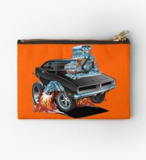 Classic 69 American Muscle Car Cartoon Studio Pouch