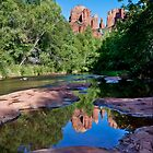 Cathedral Rock Reflection by Ray Chiarello