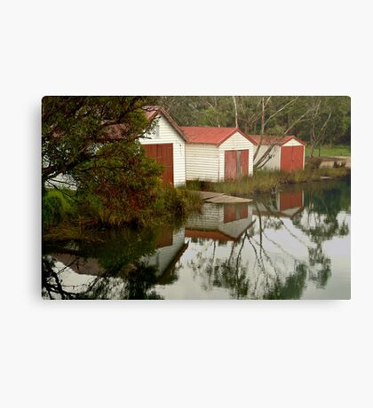 Anglesea Boat Sheds,Great Ocean Road Metal Print