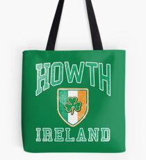 Howth, Ireland with Shamrock Tote Bag