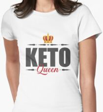 Keto Queen Women , ketogenic Diet , keto lifestyle Women's Fitted T-Shirt